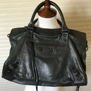 Balenciaga city bag - small gray